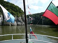 Tour boat on the Danube (Donau)