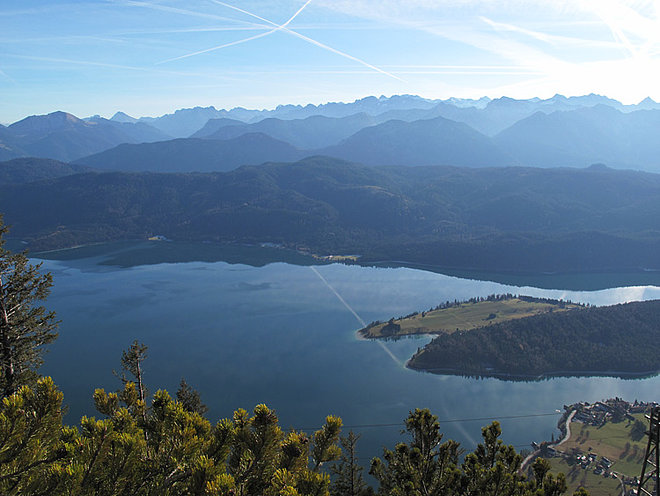 View from the Bavarian Alps, Walchensee