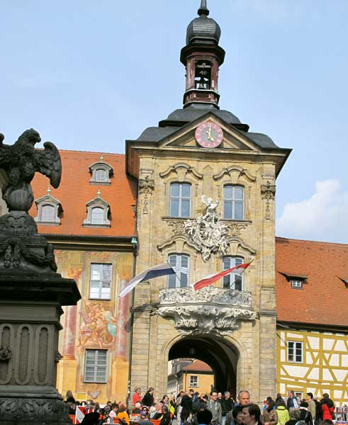 Famous Rococo City Hall in Bamberg