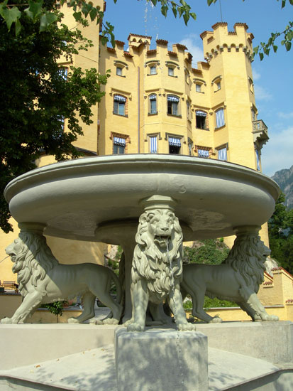Fountain of Four Lions, Hohenschwangau Castle