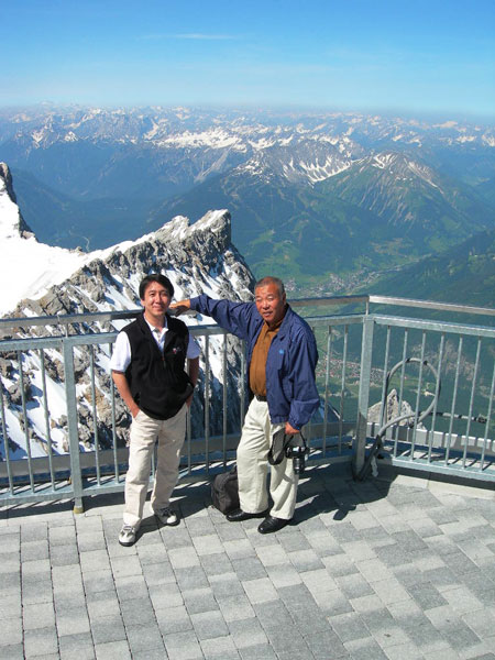 Zugspitze/Germany view to S.W. with my clients
